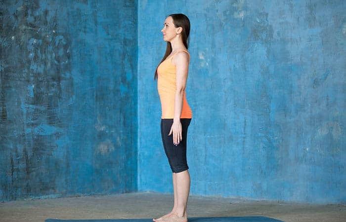 tadasana yoga pose - memperbaiki postur tubuh