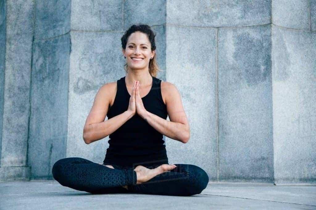Anjali mudra yoga pose