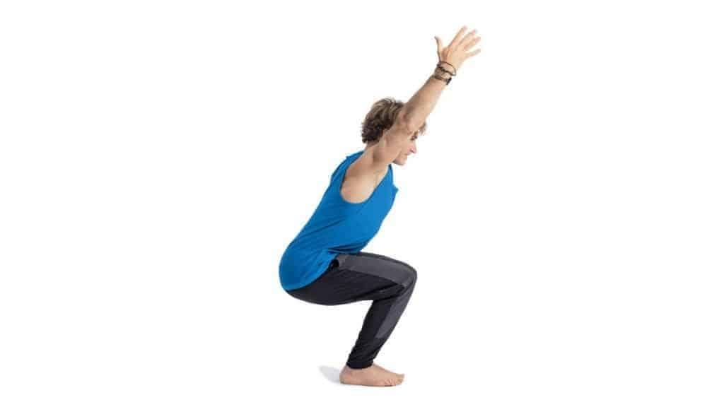 gerakan yoga utkatasana