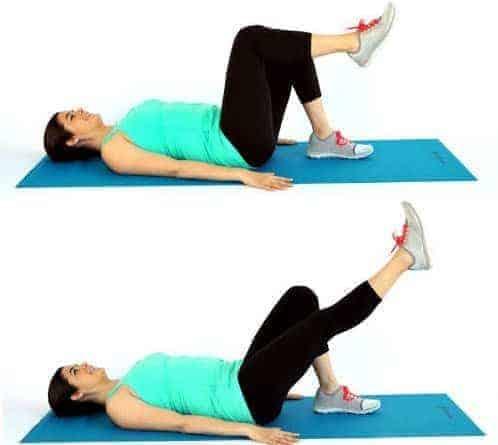 gerakan yoga single leg extension