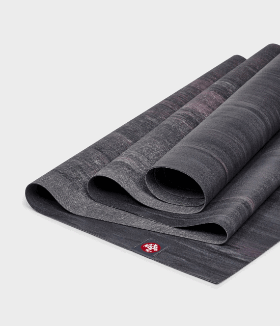SuperLite Travel manduka Yoga Mat - BLACK AMETHYST MARBLED 1
