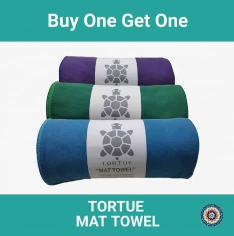 tortue mat towel - buy one get one - perlengkapan yoga